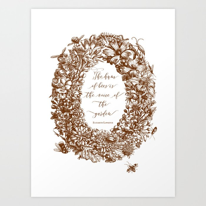 The hum of the bees Art Print