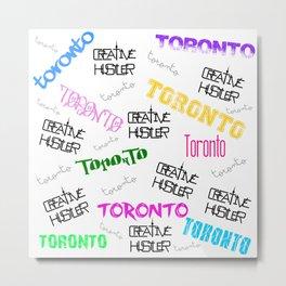 Creative Hustler Toronto(white) Metal Print