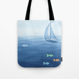 Coloured fish say hooray Tote Bag