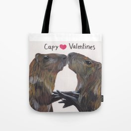 Capy Valentines Tote Bag