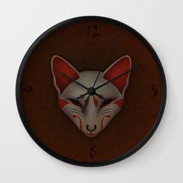 Kitsune Kabuki Wall Clock