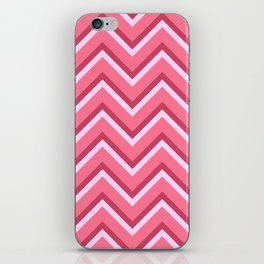 Pink Zig Zag Pattern iPhone Skin