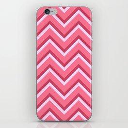 Pink Zig Zag Pattern iPhone Skin