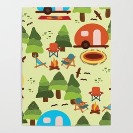 Caravan Campground Vacation Poster