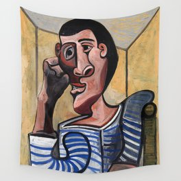 Pablo Picasso The Sailor 1943 Artwork for Wall Art, Prints, Posters, Tshirts, Men, Women, Kids Wall Tapestry