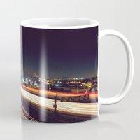 los angeles Mugs featuring Los Angeles by Jesus Ordaz
