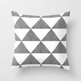 Cement White Triangles Throw Pillow