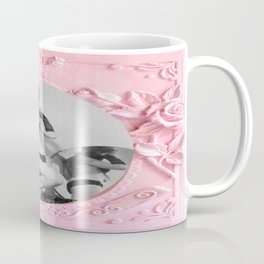 Femme Fatale - Pin Up - Pastel Pink Frame - Roses  Coffee Mug