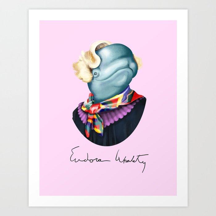 Eudora Whalety Art Print By Davyendler