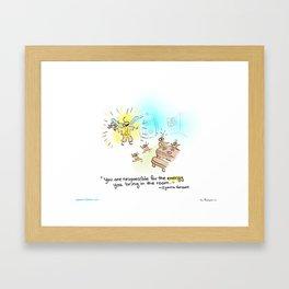 Firefly - Light up the room Framed Art Print