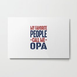 Gift for Opa Metal Print