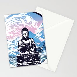 Buddha Tropical Mountain Wave Stationery Cards