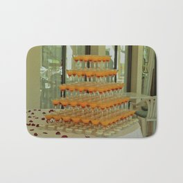 Decor glasses with dessert Bath Mat