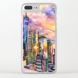 New York On Mars Clear iPhone Case