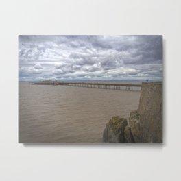 Birnbeck Pier. Metal Print