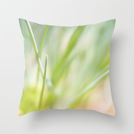 Dreamy  Herbs Chives Throw Pillow
