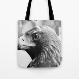 Hawk BnW Tote Bag