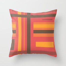 Disjointed Stripes (B2) Throw Pillow