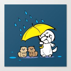 Hmmm. It's raining Canvas Print