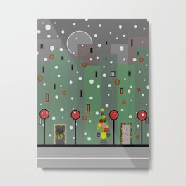 City Christmas Metal Print