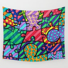 Very Puzzled Wall Tapestry
