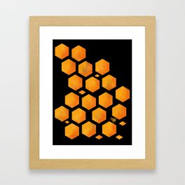 Bee in a Honeycomb Framed Art Print