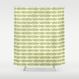 Dutch clogs with tulip pattern green Shower Curtain