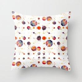 watercolor bubbles Throw Pillow