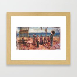 gypsy music and dance in the mediterranean sea Framed Art Print