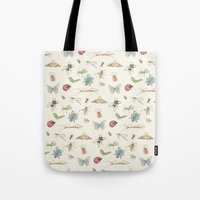 insects Tote Bags featuring Insects by Little Holly Berry
