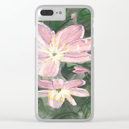 Little Pink Flowers Clear iPhone Case