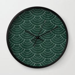 Green sashiko Wall Clock