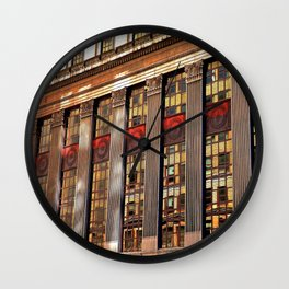 Downtown Reflections Wall Clock
