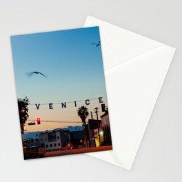 Venice Beach California Sunrise Stationery Cards