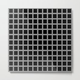 Optical Illusion - Points where there are none (1) Metal Print