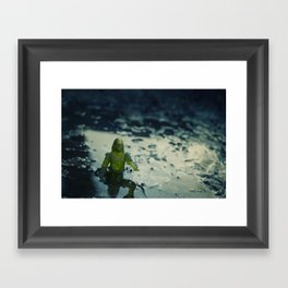 Did you leave this down here Framed Art Print