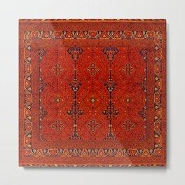 N194 - Red Berber Atlas Oriental Traditional Moroccan Style Metal Print