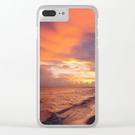 Sensational Sanibel Sunset Clear iPhone Case