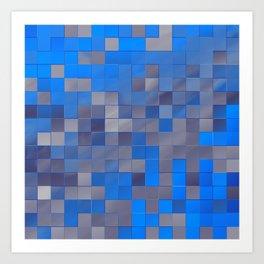 little colored squares -1- Art Print