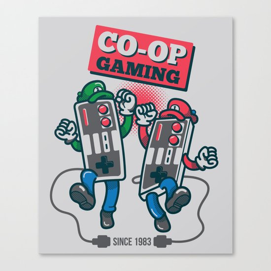 Co-op Gaming Canvas Print