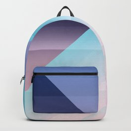 Modern Geometric Triangle Pink Blue Gradient Color Blocks Backpack