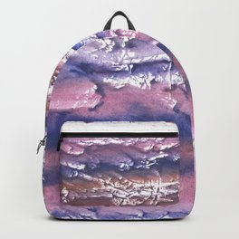 Rosy blue streaked watercolor painting Backpack