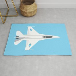 F-16 Falcon Fighter Jet Aircraft - Sky Rug