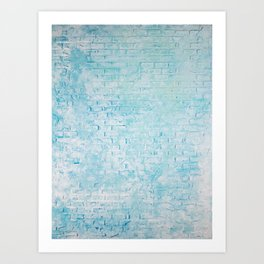 #4 BRICK TEXTURE MODERN ABSTRACT PAINTING Art Print