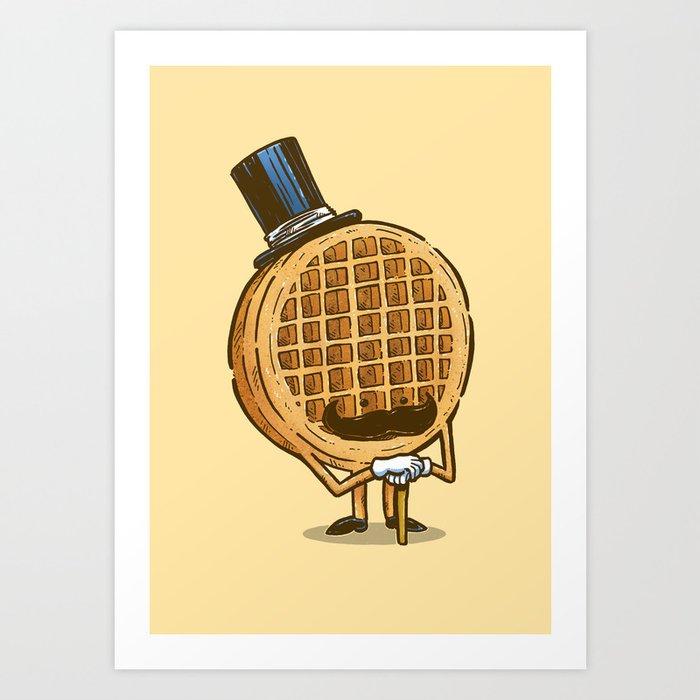 The Fancy Waffle Art Print