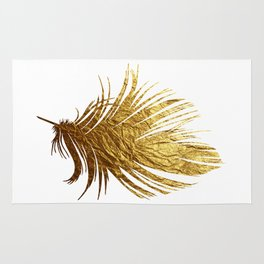 Golden Feather Rug