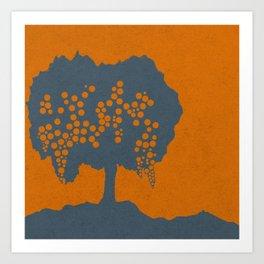 Fruit Tree Series, Orange V Art Print