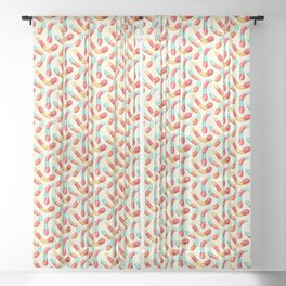 Gummy Worms Pattern  Sheer Curtain