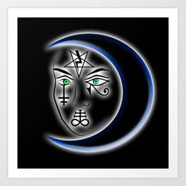 Symbol Face Crescent III Art Print