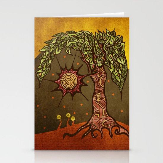 "Mystic tree Dia by Pom Graphic Design & Viviana Gonzalez"" Stationery Cards"